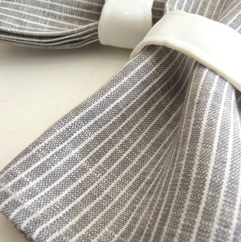 "Linen Napkins designed by Yumiko Sekine for Fog Linen. ""We love the simple design of these Fog Linen napkins."" Available at <a href=""http://brookfarmgeneralstore.bigcartel.com/product/photographic-trays"">Brook Farm General Store</a>."
