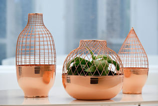 Copper vases designed by Jaime Hayon for Gaia & Gino