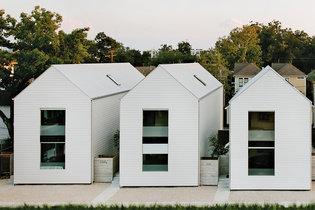 Modern row houses in Houston, Texas