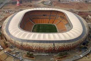 Soccer City Stadium in Johannesburg