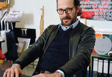 "Grcic's studio is his home base, where he surrounds himself with books, music, and his work. ""Work is life and life is work,"" says the 45-year-old designer, who spends much of his time working for small, high-end design firms. Last year, the Art Institute"