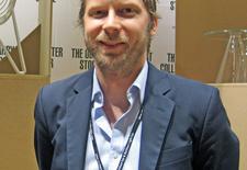 Chris Martin, co-principal of Massproductions, at the Stockholm Furniture Fair.
