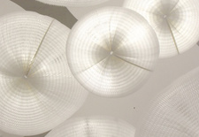 Hanging lamps by Molo Design.
