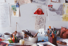"""""""Constant labor is the law of art as well as the law of life,"""" reads a quote from Balzac that serves as one of designer Satyendra Pakhalé many desktop inspirations."""