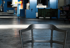 """<h2><a href=""""http://www.dwell.com/articles/steelwood-chair.html"""">The Steelwood Chair</a></h2><p></p>Magis' Steelwood chair, designed by Ronan and Erwan Bouroullec, begins its life as a sheet of steel in an Italian factory. <p></p><p></p>Featured in the <a"""