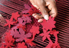"""<h2><a href=""""http://www.dwell.com/articles/little-field-of-flowers.html """">Little Field of Flowers</a></h2><p></p>Take a passage to India with Barcelona-based rug designer Nani Marquina as weavers transform a Tord Boontje sketch by warp and weft into a blo"""