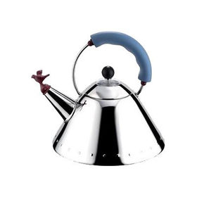 Tea Kettle designed by Michael Graves for Alessi in 1985.