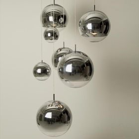 YLighting Tom Dixon 7 mirror ball lamps