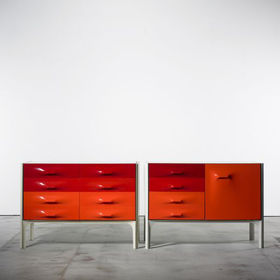 raymond loewy df 2000 cabinets pair wright