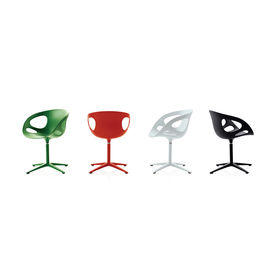 Rin, designed by Japanese designer Hiromichi Konno in 2008. The shell is made of polypropylene and the base is polished aluminium.    HK10 in 6 different colours.