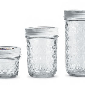 Ball Wide-Mouth Pint Jars made in Indiana.