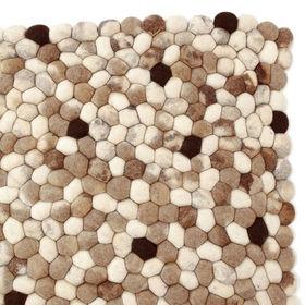 felted pebble rug