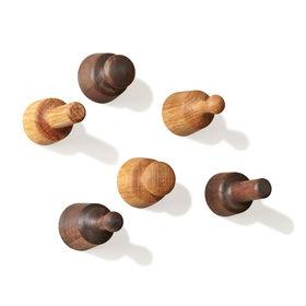 Wooden knob magnets