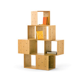 Wooden block storage units