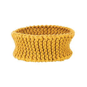 Yellow Knitted Basket by Ferm Living