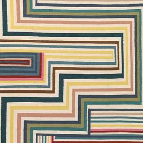 shape shifters abstract malachite rug