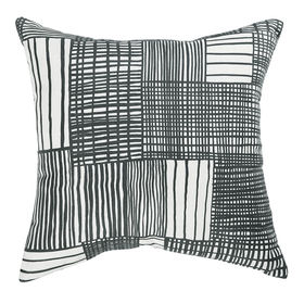 pillow black and white crate and barrel