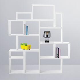 modern shelving system.