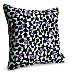 pillow, pattern, black, white, pink