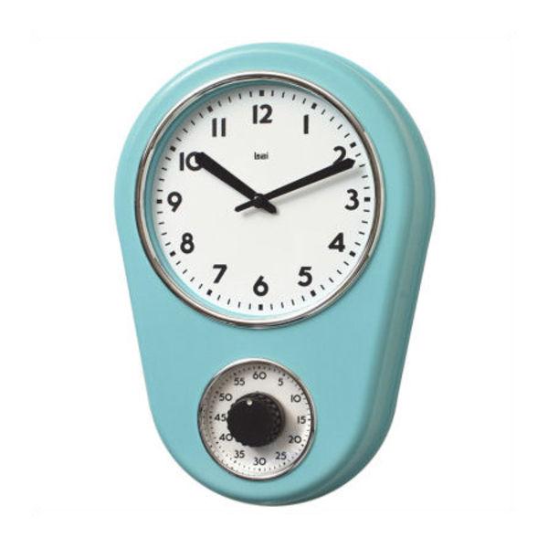 Bai Design kitchen timer retro modern wall clock