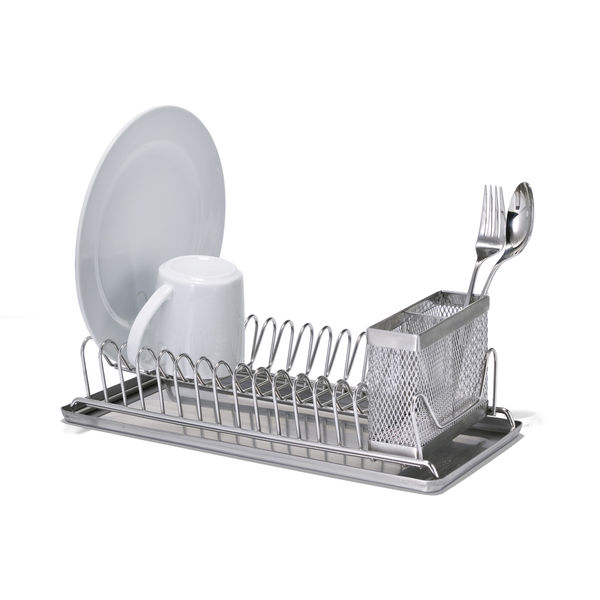 Stainless Steel Compact Dish Rack by The Container Store