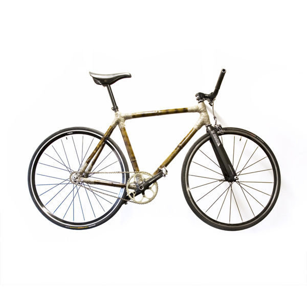 bamboo bike sihouetted product bicycle