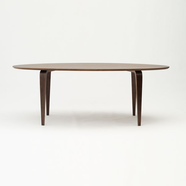 cherner chair oval table walnut