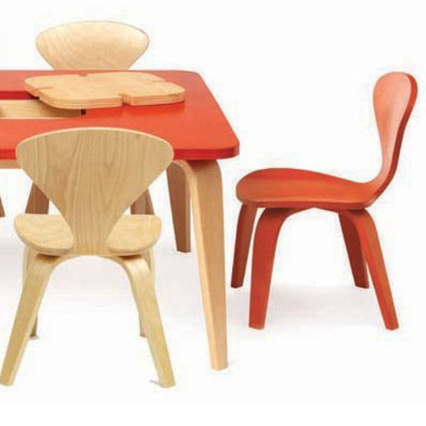 cherner chair red walnut
