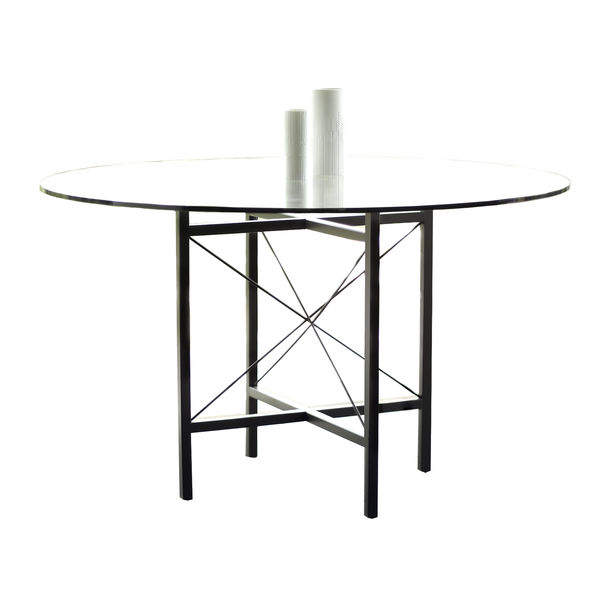 Designers Glenn Lawson and Grant Fenning, together known as Lawson-Fenning, created the Covina Table, which has a powder-coated finish (allowing for outdoor use) and comes in a selection of colors and sizes. The standard dimension, shown here, is 42 inche