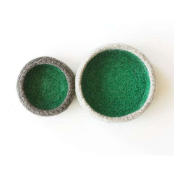 delica felted bowls
