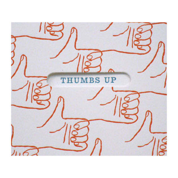 egg press thumbs up card