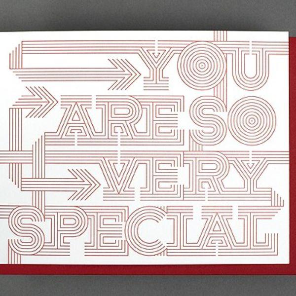 enormous champion letterpress card