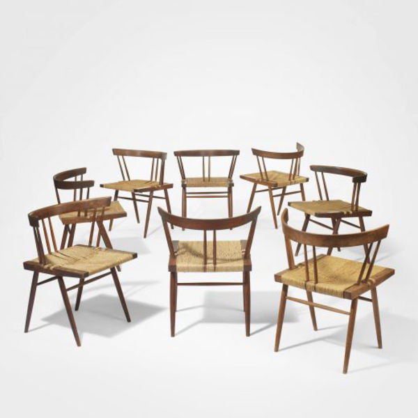george nakashima grass seated chairs wright