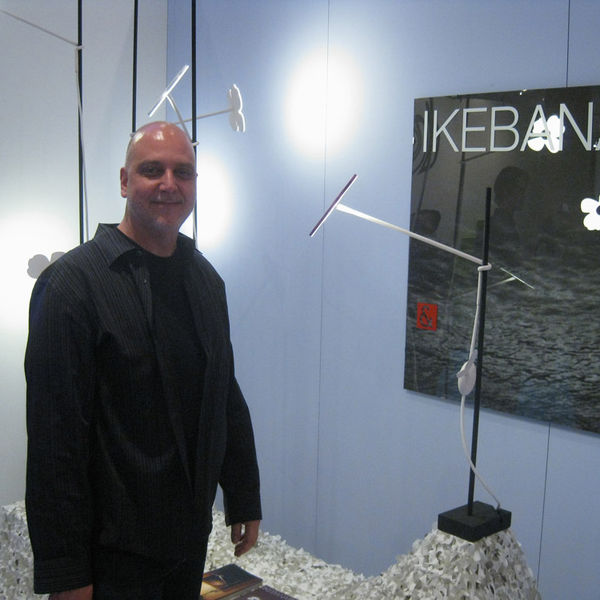 San Francisco designer Peter Stathis introduced his latest creation, Ikebana, in a small booth at today's ICFF.