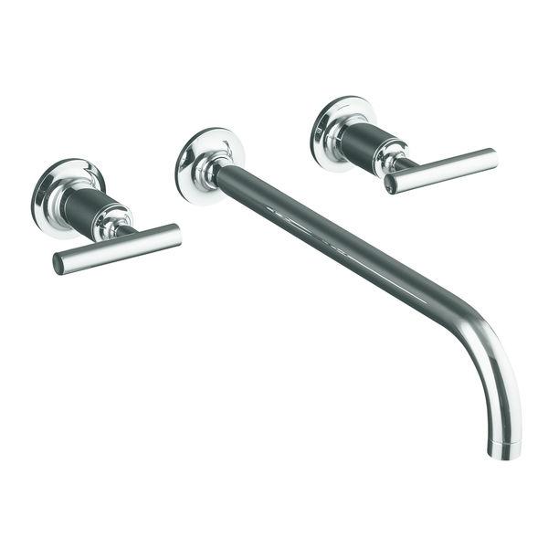 kohler Purist two handle wall mount lavatory faucet K T144164