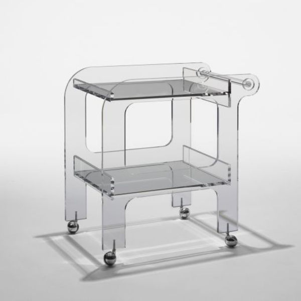 clear plastic cart