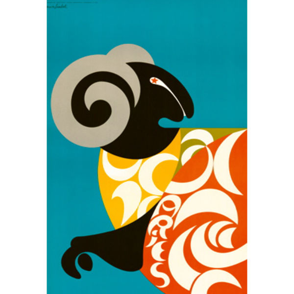 simboli zodiac poster aries