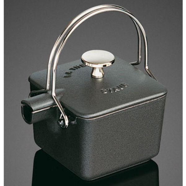 staub  teapot graphite grey