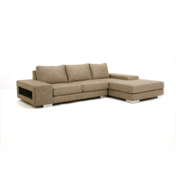 viesso strata sectional sofa white background