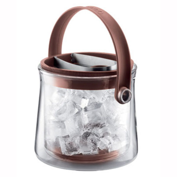 Cool Double Wall Glass Ice Bucket by Bodum