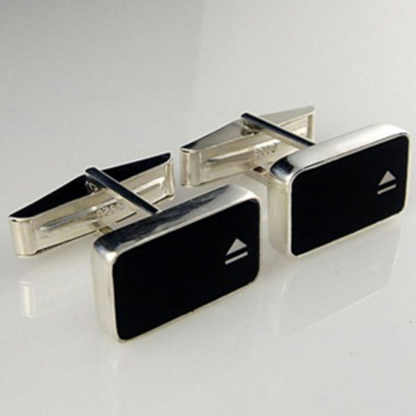 Eject Symbol Key Cufflinks