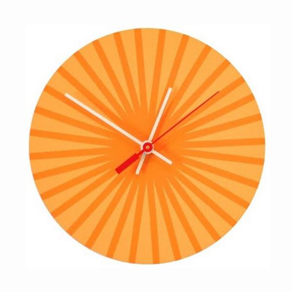 Orange Burst clock chroma lab