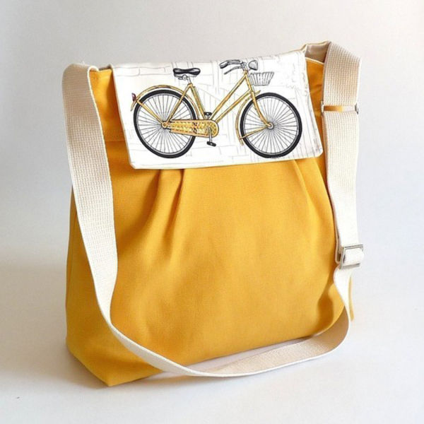 etsy canvas bicycle flap  handbag