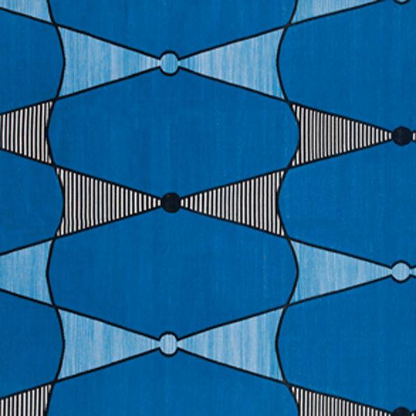 blue Jambo rug by Madeline Weinrub