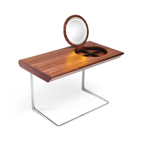modern black walnut dressing table