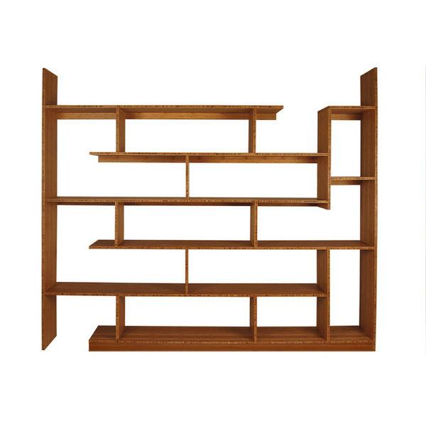 Modern bamboo shelving unit