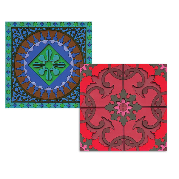 modern coasters with Mediterranean pattern