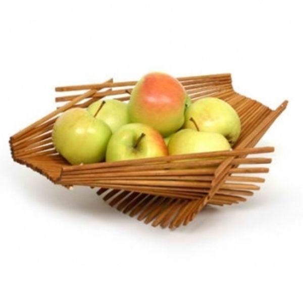 recycled chopstick fruit basket