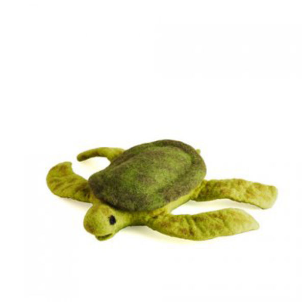 Felt sea turtle pet toy