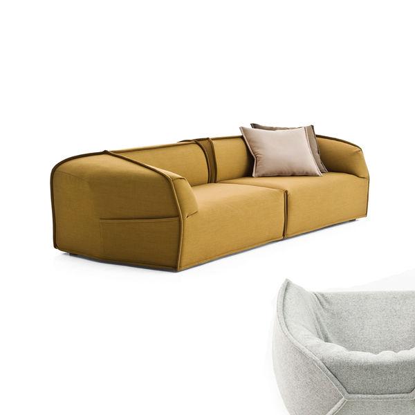 moroso yellow modern sofa